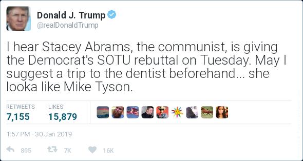 Abrams hideous smile